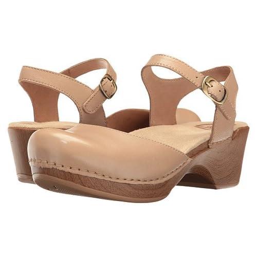 (ダンスコ)Dansko レディースクロッグズ・ミュール・スライド・靴 Sam Sand Dollar Full Grain US Women's 7.5-8 24-24.5cm Regular [並行輸入品]