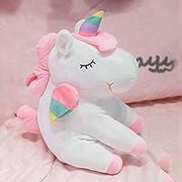 ユニコーンのぬいぐるみ 抱き枕 可愛い レインボー 人形 癒し 部屋飾 寝具 慰める お祝い 誕生日 キット 人気 プレゼント カラフル 虹 ピンク