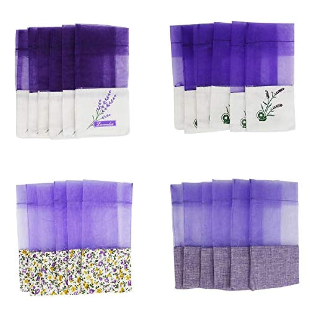 断線創傷積分(24pcs) - Lozom Sachet Empty Bags Purple Gauze Cotton-ramie Sacks for Lavender, Spice and Herbs (24pcs)