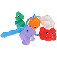 P Prettyia 釣りゲーム 海洋動物玩具 お風呂 プール 水遊び 釣りネット 網 音鳴り 楽しい時間