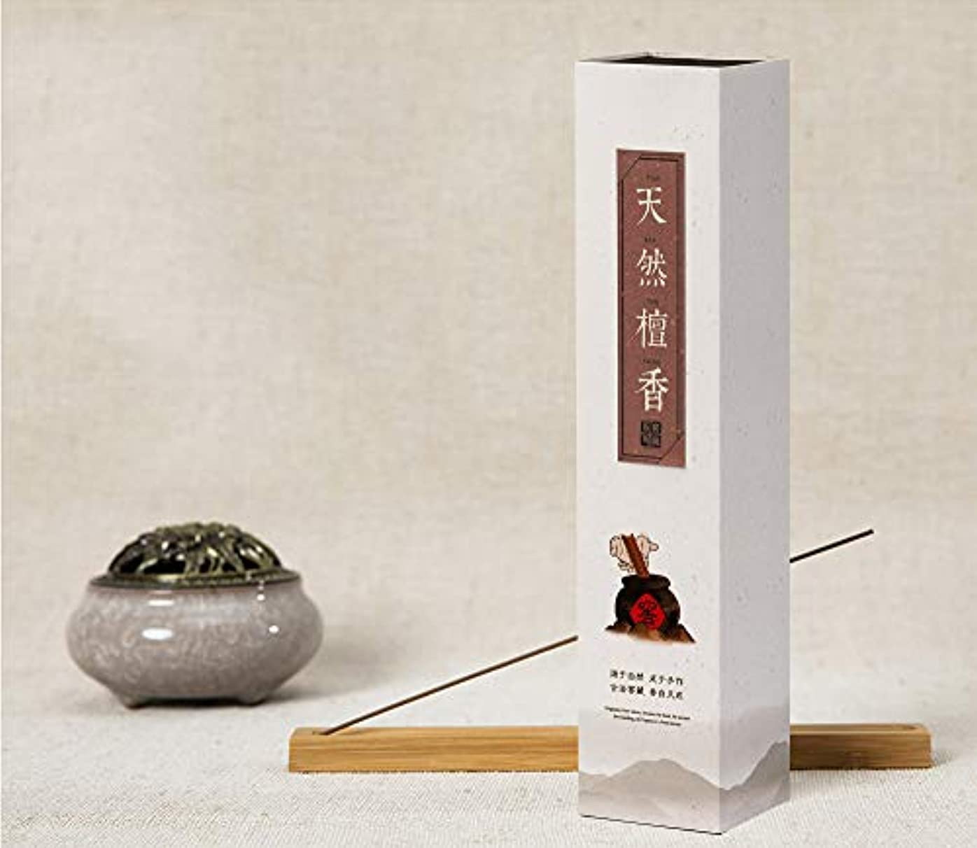 パーツ存在する降ろすHwaGui - お線香 天然檀香 インセンス 香るスティック 養心安神 お香ギフト 21cm 0.75時間
