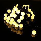 OFTEN 5M 50球 LEDイルミネーションライト LED小さなボールストリング 防水 電飾 屋外屋内ストリングライト、結婚式、ホームパーティー、お誕生日パーティー、ガーデン、庭、ホーム、ホリデー、ウェディングパーティー、ハロウィン、クリスマスなどに最適(ウォームホワイト)