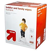 up & up Toddler and Family Flushable Wipes 432 ct by RBS