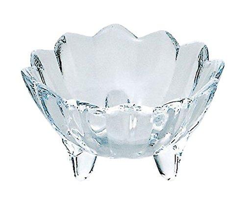 東洋佐々木ガラス 小鉢 クリア 約φ8.4×5cm 花かざり 器 菊型三ツ足 日本製  41451