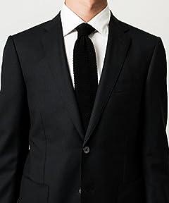Canonico Dobby Wool Jacket 3122-110-0467: Black