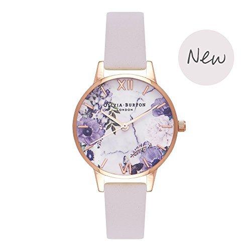 Olivia Burton [オリビアバートン] Olivia Burton Marble Floral Blush & ローズゴールド 30mm 女性 レディース 腕時計 レザー OB16MF02 [並行輸入品]
