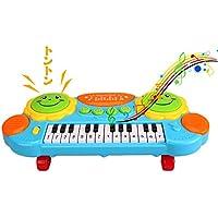 ピアノ 音楽おもちゃ 知育玩具 鼓 キッズ 電子ミニキーボード 多機能音楽玩具 ライト付き