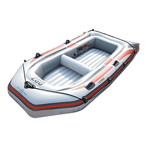 ゴムボート 4人乗り オール2本セット PVC プラスチック 最大積載350Kg ファミリーサイズ レジャー アウトドア