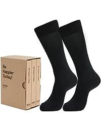 【ENES The Socks】靴下 メンズ ビジネスソックス TAILOR[シルケット加工]フットサポート付き(ディップ?ブラック)黒 (S(23~24) 3足セット)