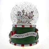 SMYER クリスマスミュージカルスノーグローブ マルチライティング LEDウォーターボール 直径100mm