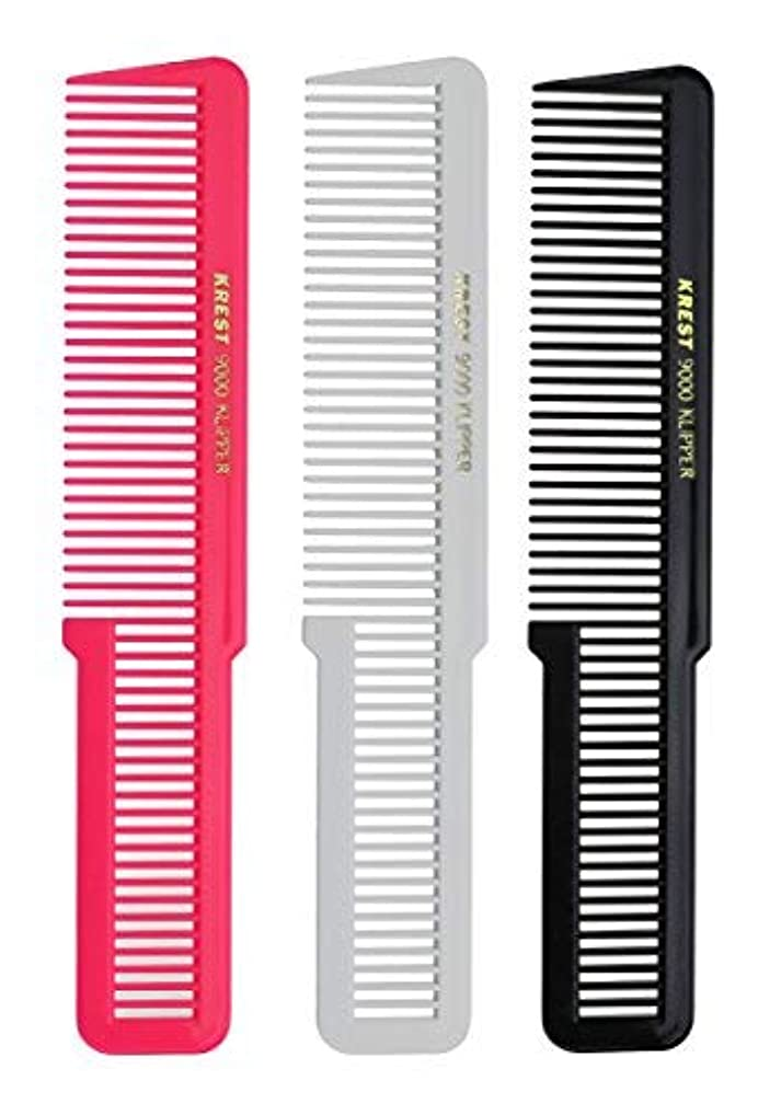 危険を冒しますフレームワーク汚染Krest 8 Inches Barber Styling Hair comb. Clipper Cutting Comb. Made of Nitrile Rubber. [並行輸入品]