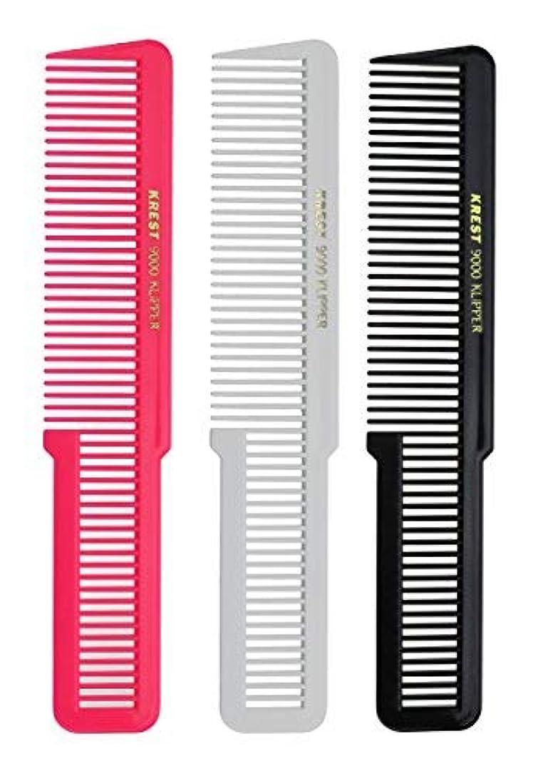 忠実に台風グラスKrest 8 Inches Barber Styling Hair comb. Clipper Cutting Comb. Made of Nitrile Rubber. [並行輸入品]