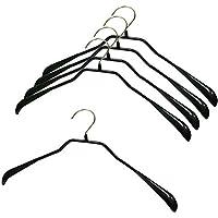 Cozyone ハンガー ジャケットハンガー スリムタイプ 人体ハンガー 5本組 洗濯 収納ハンガー 衣類が滑り落ちない 型崩れ防止 スリムハンガー