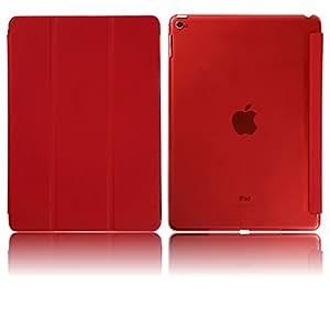 【MW】Apple iPad Air2 スマートカバー ケース スタンド式 シェルケース レッド