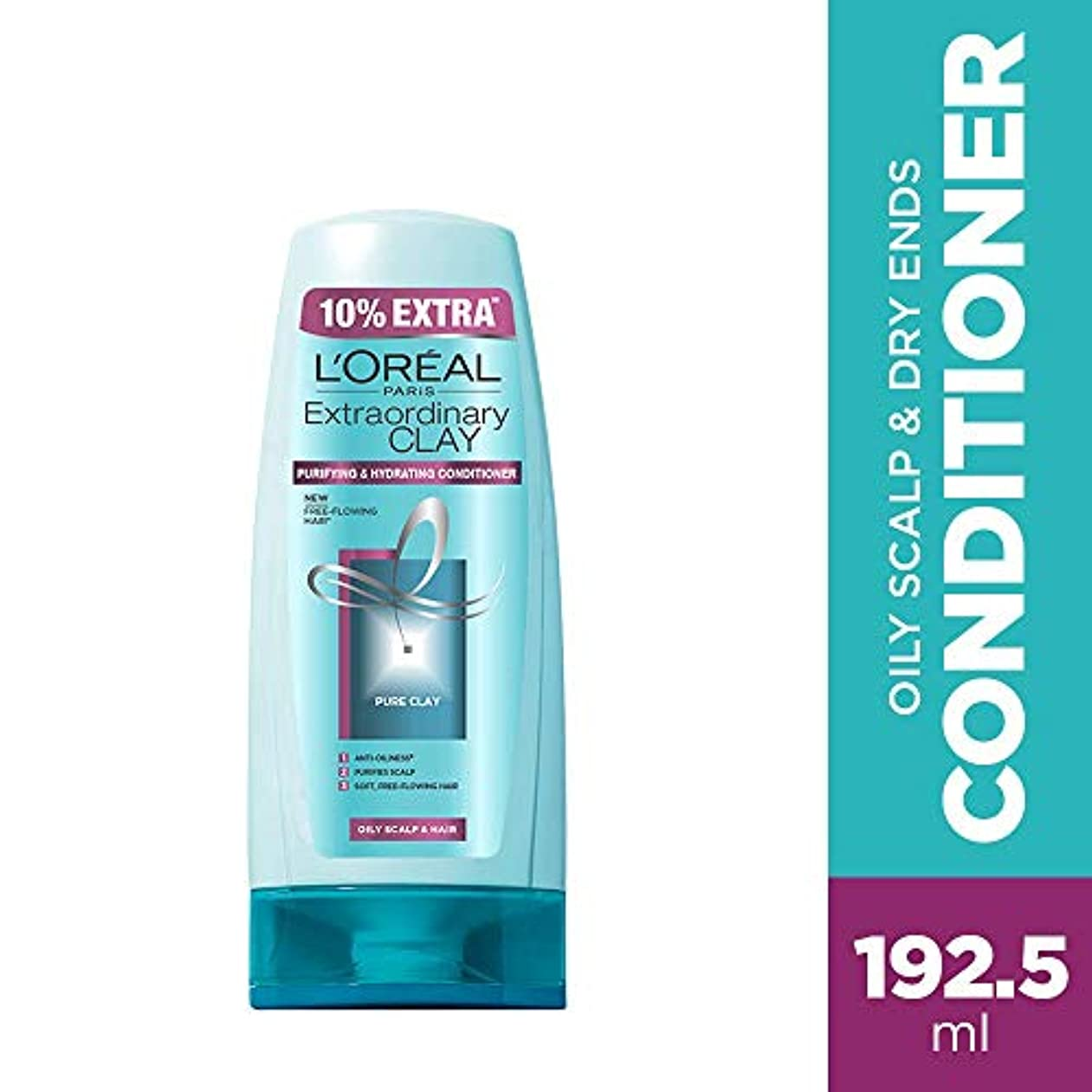 同化カフェ自己尊重L'Oreal Paris Extraordinary Clay Conditioner, 175ml (With 10% Extra) (Loreal Ship From India)