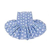 小型犬テディかわいい子犬犬ドレス夏の服犬の服カラフルなウェーブポイントドレスDAカラフルなペットの印刷スカート:スタイル5、L