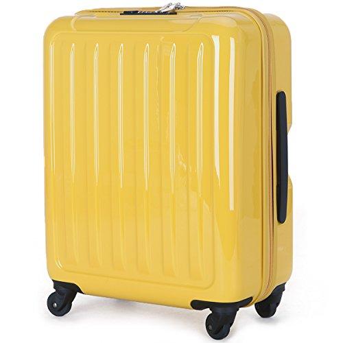 ラッキーパンダ Luckypanda 一年修理保証付き TY8048 スーツケース 超軽量 機内持込 40l 小型 キャリーケース かわいい キャリーバッグ 機内持ち込み (イエロー)