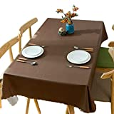 Meioro テーブルクロス テーブルカバー PVC製 防水 撥水加工 耐熱 汚れ防止 手入れ簡単 インテリア用品 多用途 4色選択 サイズ選択可能 (ブラウン, 90*140)