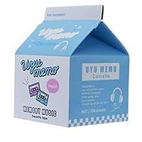 [メモ帳]牛乳パック メモ uyu memo/カセットテープ クラックス おもしろ文具 オルチャン系 グッズ 通販