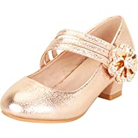 Cambridge Select Girls' Strappy Mary Jane Crystal Rhinestone Flower Low Heel Pump (Toddler/Little Kid/Big Kid)