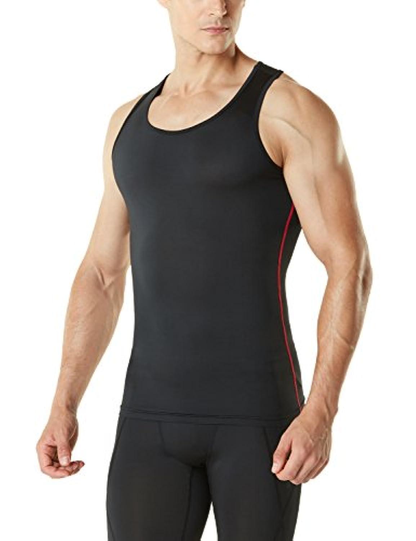 (テスラ)TESLA メンズ タンクトップ スポーツシャツ [UVカット?吸汗速乾] コンプレッションウェア パワーストレッチ アンダーウェア