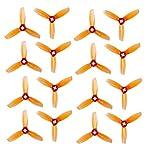 RAYCorp 純正Gemfan 3028 3ブレード (3x2.8x3) プロペラ 16ピース (8CW 8CCW) ウイスキー - ポリカーボネート 3インチ 三枚刃 ミニクア..