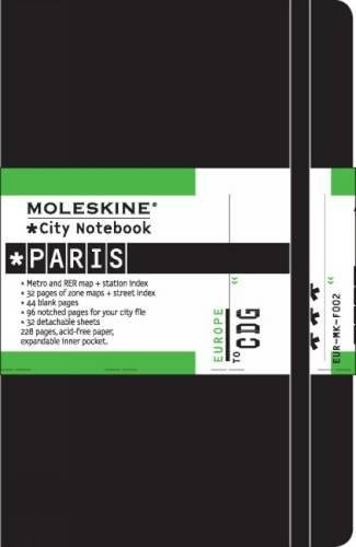 Moleskine City Notebook - Paris, Pocket, Black, Hard Cover (3.5 x 5.5) (City Notebooks)