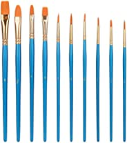 Amazon Basic Paint Brushes Art Paint Brushes Set for Artists, Adults & Kids, 10 Pieces, 6