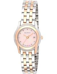 [グッチ]GUCCI 腕時計 Gクラス ピンクパール文字盤 ステンレス/ステンレス(PGPVD)ケース YA055536 レディース 【並行輸入品】
