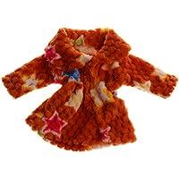 Lovoski 4色選べる 18インチアメリカガールドール用 ドレスアップ ファッション プラッシュコート スカート 冬の服 - 黄