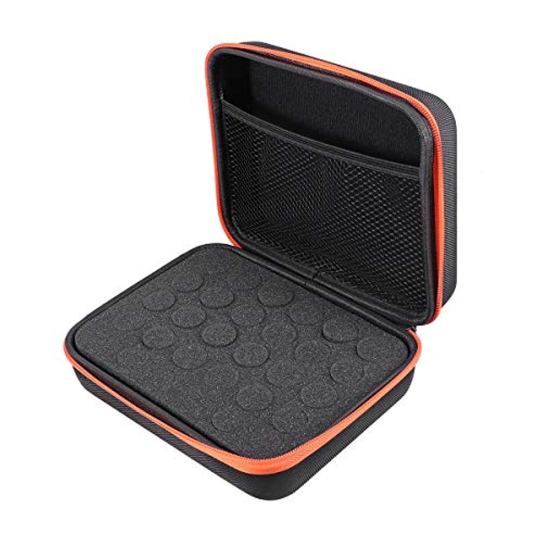おばあさん必須雄弁Frcolor エッセンシャルオイル 収納ケース アロマケース 収納ボックス ハンドル付 携帯 アロマポーチ アロマケース 精油ケース 5ml 10ml 15ml 12格 大容量(オレンジ)