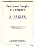Auguste Périer: 30 Études (Clarinet). For クラリネット