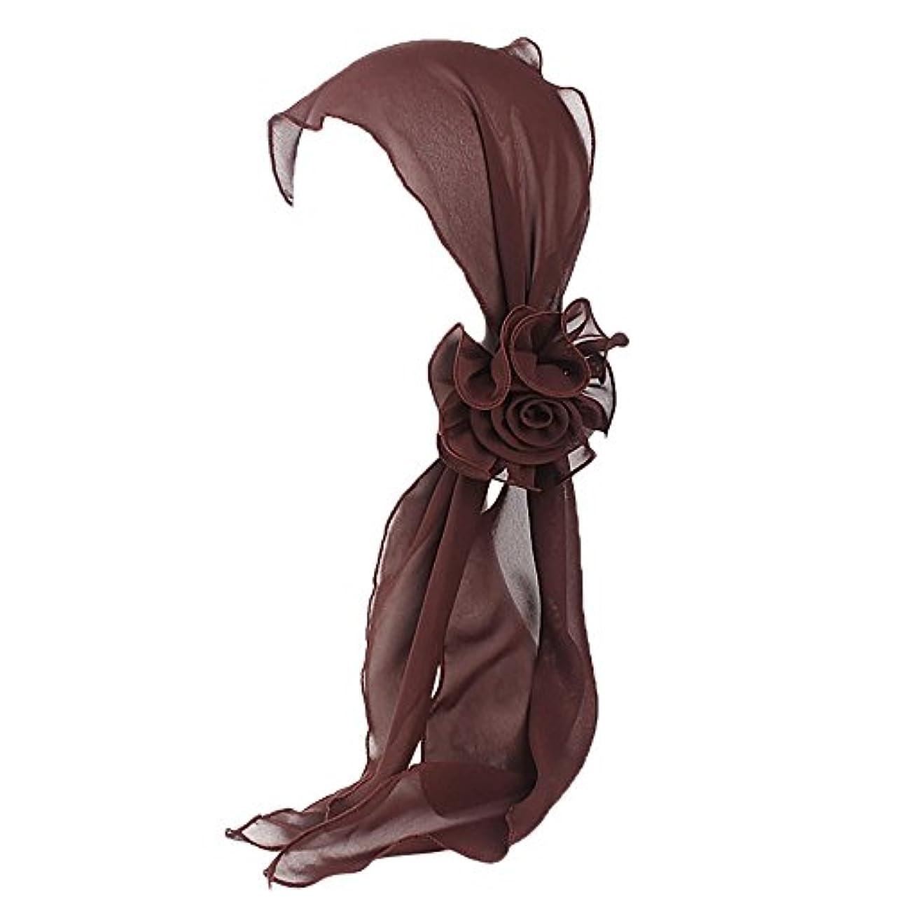 プロットパット強風ヘッドスカーフ ハット 帽子 Timsa レディース スカーフキャップ 花の形 ヘッドスカーフ 睡眠 抗UV 脱毛症 化学療法の患者のために バイザー 夏用帽子 イスラム教徒 フヘッドバンド スカーフ ヒジャブ 山の日...