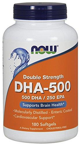 海外直送品 Now Foods DHA, 180 Softgels 500 Mg