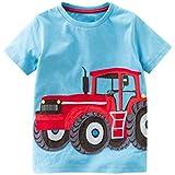 hfeweng 少年漫画アニマルプリントスプライスcuitショートTシャツ夏の夏遊びコスチューム子供24ヶ月 - 8歳 ?色:グレー 大小:8歳
