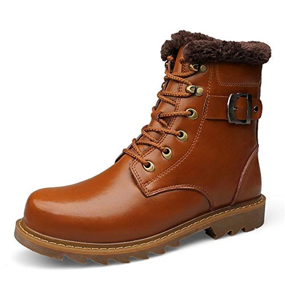 繊細協定分類するメンズシューズ、leatherAutumn、Winter New Martin Bootsメンズレザーブーツハイコットンシューズ (色 : C, サイズ : 40)