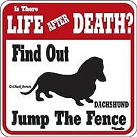 LIFE AFTER DEATH DACHSHUND サインボード:ダックスフンド 警戒中 看板 Made in U.S.A [並行輸入品]