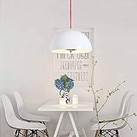 LEDライトモダンペンダントシーリングランプ 光源なしの40センチメートルレストランバーシャンデリアリビングルーム簡易ベッドルームベッドサイドスタディシャンデリア(ブラック) ペンダントライト (色 : 白)