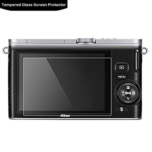 LOKEKE スクリーンプロテクタ-Nikon J2 J3に使用される液晶保護フィルム、実際のガラス製造、生涯保証 0.3mm 9H