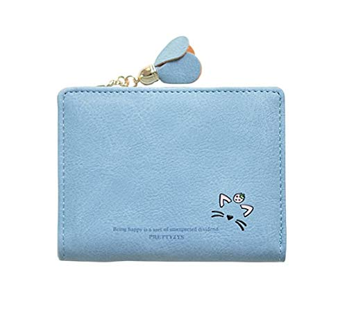 a5ee6286dfa8 【AMgrocery】二つ折り財布 レディース ネコ 猫 軽量 軽い コンパクト 可愛い ミニ財布 女の子