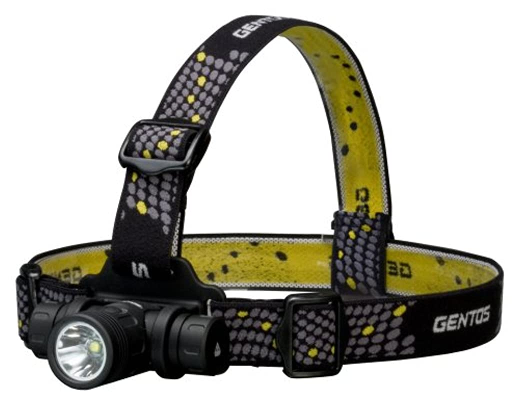 ナサニエル区不足サミュエルGENTOS(ジェントス) LED ヘッドライト 【明るさ520ルーメン/実用点灯3時間/1m防水】 CR123Aリチウム電池2本使用 T-レックス TX-540XM ANSI規格準拠