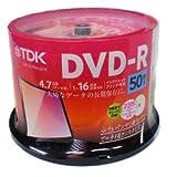 TDK DR47PWC50PUC   データ用 DVD-R 4.7GB 50枚 16倍速 ワイド プリンタブル ホワイト レーベル スピンドル