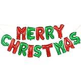 Amyou クリスマスバルーン 飾り付けセット Merry Christmasアルファベット サンタ アルミバルーン 風船 クリスマスパーティー クリスマス お祝い 写真背景 おしゃれ