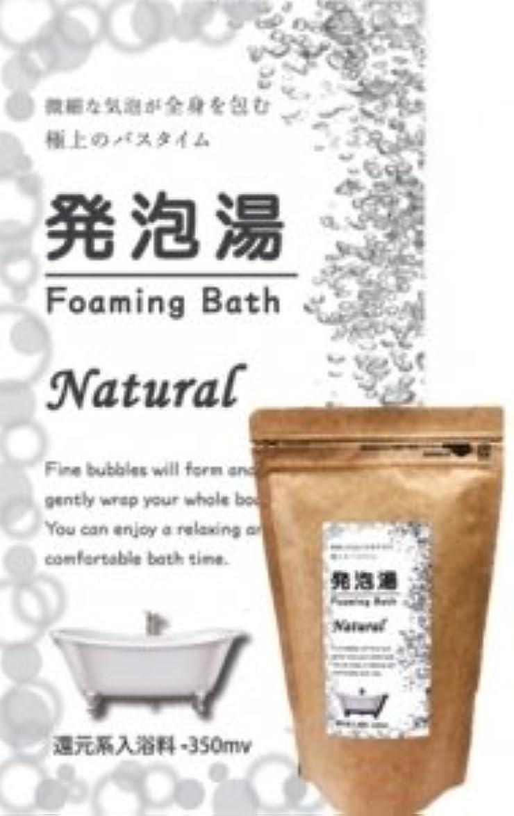 単調な歯痛衝突コース発泡湯(はっぽうとう) Foaming Bath Natural ナチュラルお徳用15回分