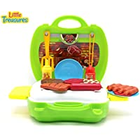 [リトルトレジャー]Little Treasures 15Pcs Travel BBQ Play Case Comes with Serving Utensils, Cups, Plates and Toy Food [並行輸入品]