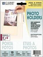 C-Line Peel & Stick Photo Holders for 3 x 5 & 4 x 6 Photos, 4-3/8 x 6-1/2, Clear, 10/pk [並行輸入品]