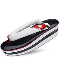 椿 の 刺繍 鼻緒 高級 3枚芯 ヒール 草履 単品 選べる3色 赤 黒 白 卒業式 振袖 成人式 袴