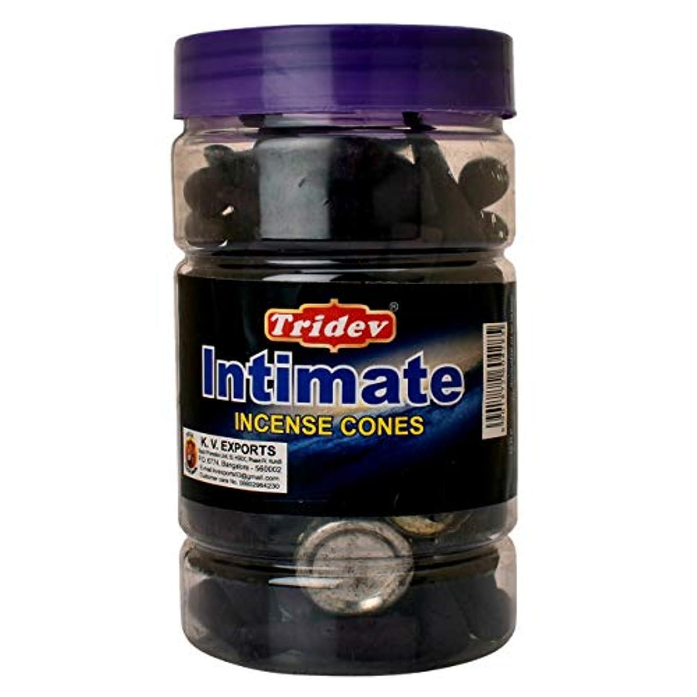 任意思慮深い摂氏度Tridev Intimate Fragrances お香用コーンジャー 1350グラムボックス | 225グラムのジャー6本入り | 輸出品質