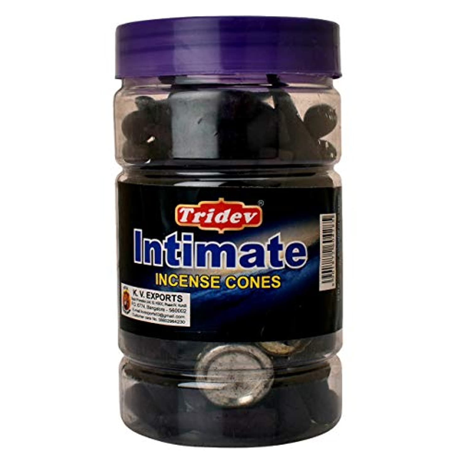 狭いブランク守銭奴Tridev Intimate Fragrances お香用コーンジャー 1350グラムボックス | 225グラムのジャー6本入り | 輸出品質