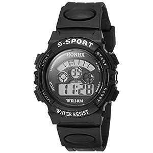 [フォンエックス]HONHX デジタル腕時計 子供用スポーツモデル ブラック H0152 ボーイズ 【並行輸入品】